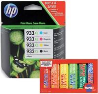 Inktcartridge HP C2P42AE 932XL/933XL zwart + 3 kleuren HC.-1