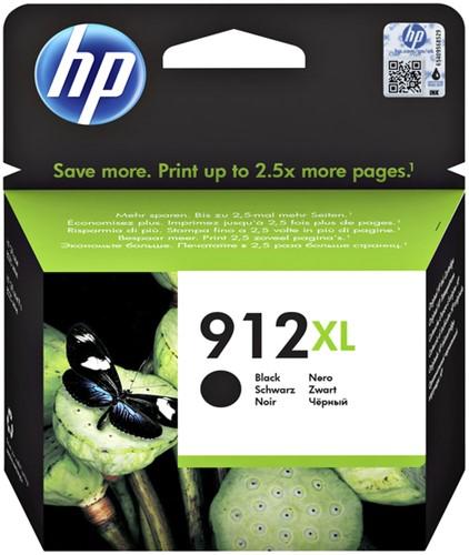 Inktcartridge HP 3YL84AE 912XL zwart.