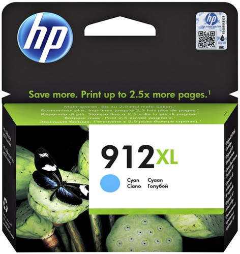 Inktcartridge HP 3YL81AE 912XL blauw.