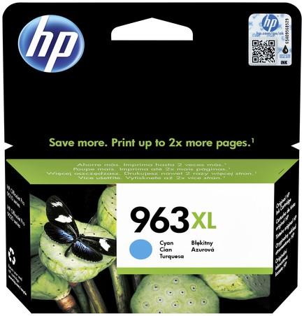 Inktcartridge HP 3JA27AE 963XL blauw HC.