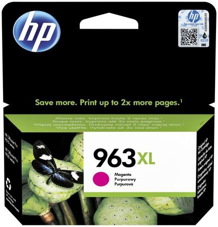 Inktcartridge HP 3JA28AE 963XL magenta HC.
