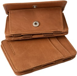 Magic Wallet Coin Hunterson RFID Cow leather cognac.