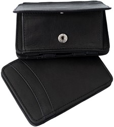 Magic Wallet Coin Hunterson RFID Cow leather black.