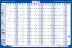 Jaarplanner 2019 Lega karton gelamineerd 60(h)x90(br)cm dagkolom 4,2x2cm (420122-19).