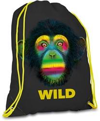 Gymtas Wild drawstring 420x330x10mm assorti kleuren.
