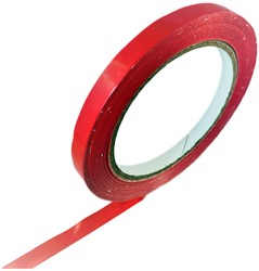 Vinyl tape 12mm x 66 meter rood.