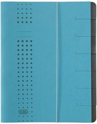 Sorteermap Elba chic A4 7-tabs karton blauw.