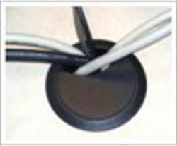 Kabeldoorvoer 60mm zwart.
