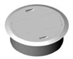 Kabeldoorvoer 80mm licht grijs.