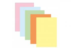 Gekleurd papier Pollen A4 120 grams assorti kleuren pastel 50 vel.