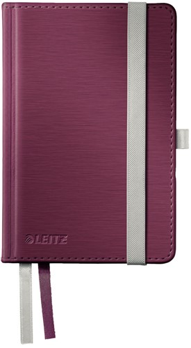 Notitieboek Leitz Style A6 harde kaft granaatrood - 80 vel 100 grams gelijnd ivoorpapier 4489-00-28.