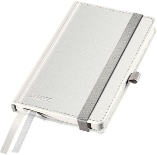 Notitieboek Leitz Style A6 harde kaft poolwit - 80 vel 100 grams geruit ivoorpapier 4491-00-04.