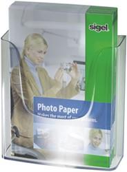 Folderstandaard Sigel LH115 A4 wandmodel glashelder acryl.