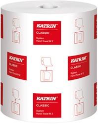 Handdoekrol Katrin Classic System M2 wit 21cm x 160mtr. 2-laags 6 rollen.