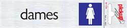 Zelfklevend picto-tekstbord Pickup 165x44mm dames.