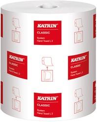 Handdoekrol Katrin Classic System L2 wit 21cm x 200mtr. 2-laags 6 rollen.