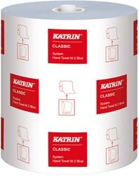 Handdoekrol Katrin Classic System M2 blauw 21cm x 130mtr. 2-laags 6 rollen.