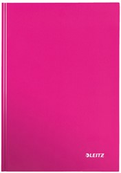 Notitieboek Leitz WOW A4  harde kaft roze - 80 vel 90 grams geruit papier.