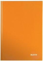 Notitieboek Leitz WOW A4  harde kaft oranje - 80 vel 90 grams geruit papier.