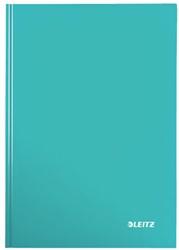 Notitieboek Leitz WOW A4  harde kaft ijsblauw - 80 vel 90 grams geruit papier.