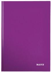 Notitieboek Leitz WOW A4  harde kaft paars - 80 vel 90 grams geruit papier.