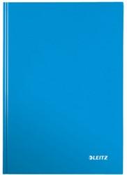 Notitieboek Leitz WOW A5  harde kaft blauw - 80 vel 90 grams gelijnd papier.