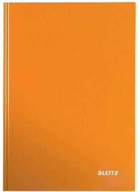 Notitieboek Leitz WOW A5  harde kaft oranje - 80 vel 90 grams gelijnd papier.