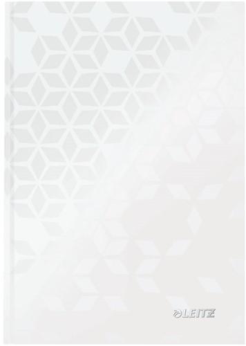 Notitieboek Leitz WOW A5 harde kaft wit - 80 vel 90 grams geruit papier.