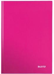 Notitieboek Leitz WOW A5  harde kaft roze - 80 vel 90 grams geruit papier.