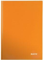 Notitieboek Leitz WOW A5  harde kaft oranje - 80 vel 90 grams geruit papier.
