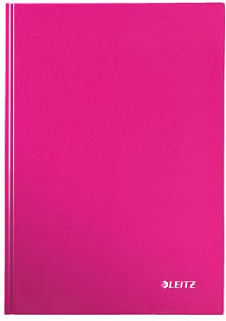 Notitieboek Leitz WOW A5  harde kaft paars - 80 vel 90 grams geruit papier.