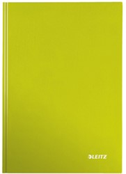 Notitieboek Leitz WOW A5  harde kaft groen - 80 vel 90 grams geruit papier.