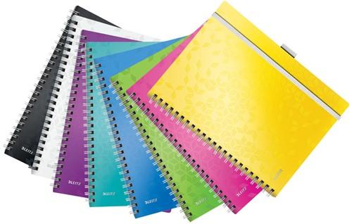 Notitieboek Leitz WOW Be Mobile A4 kunststof kaft assorti kleuren - 80 vel 80 grams geruit papier 4645-00-99.
