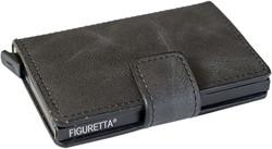 Pasjeshouder Figuretta kunstlederen omslag in de kleur antraciet cap. 6 kaarten.