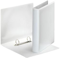 Wisselband Esselte 2-rings A5-25mm wit voorzien van 2 tassen.