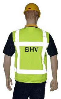 Veiligheidshesje 'BHV' geel maat xxl.