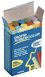 Krijt antidust Robercolor doosje a 10 pijpjes assorti kleuren.