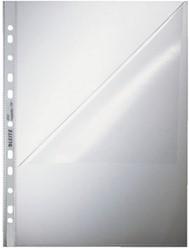 Showtassen Leitz A4 11-rings dikte 0.09mm transparant boven- en linkerzijde open 100 stuks.
