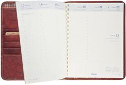 Agenda 2019 Brepols Timing Dalian Mark II 7 dagen per 2 pagina's 16,8x22cm omslag: bruin leder gespiraleerd chamois papier.