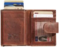 Pasjeshouder Brepols Maverick Dalian Mark II Secret wallet met drukknopsluiting donkerbruin.-2