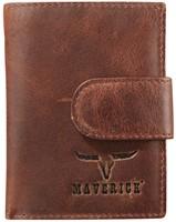 Pasjeshouder Brepols Maverick Dalian Mark II Secret wallet met drukknopsluiting donkerbruin.