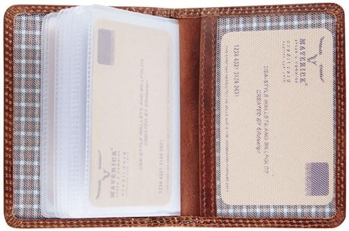 Pasjeshouder Brepols Maverick Dalian Mark II RFID cap. 12 pasjes omslag: donkerbruin.
