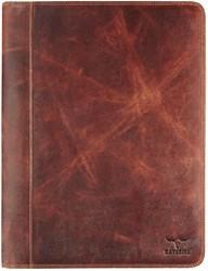 Schrijfmap Brepols Dalian Mark II A4 27x34.5cm met rits donkerbruin.