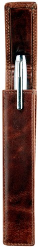 Pen etui Brepols Maverick Dalian II 21,5x5cm voor 1 pen donkerbruin.-2