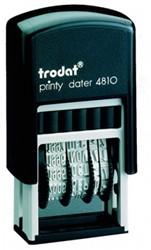 Datumstempel Trodat Printy 4810 zelfinktend afdrukhoogte 3mm.