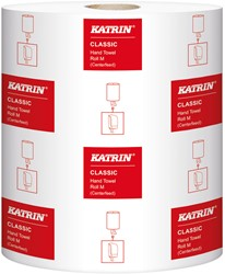 Handdoekrol Katrin Classic System M wit 20,5cm x 300mtr. 1-laags 6 rollen.