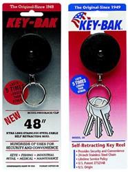 Afrolmechanisme Key-bak zwart 120cm teflon koord met clipbevestiging.