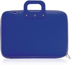 Laptoptas Bombata model Classic 15.6inch 43x33x7cm vinyl in de kleur cobalt blue.