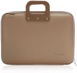 Laptoptas Bombata model Classic 15.6inch 43x33x7cm vinyl in de kleur taupe.