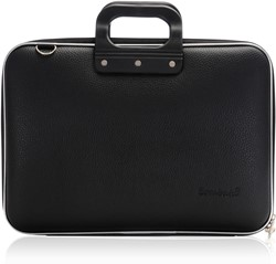 Laptoptas Bombata model Classic 15.6inch 43x33x7cm vinyl in de kleur black.